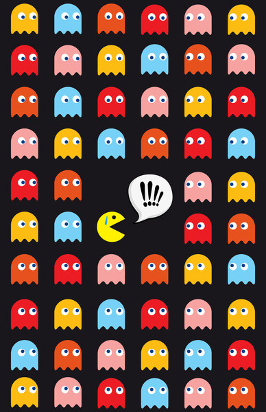 theawkwardgamer:  Pac-Man Trapped by Psocy Shop (Society6)