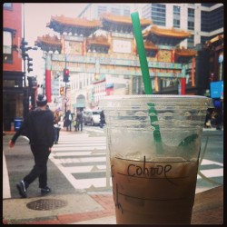 I'm Chloe, but my Starbucks Chinatown friends call me 'Cahooe' 👘☕ #smh