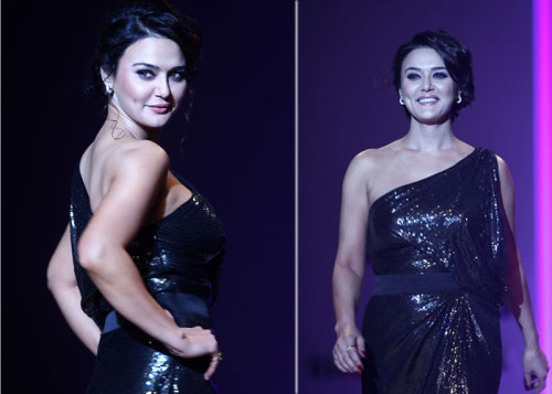 Preity Zinta walking for designer Surily Goel