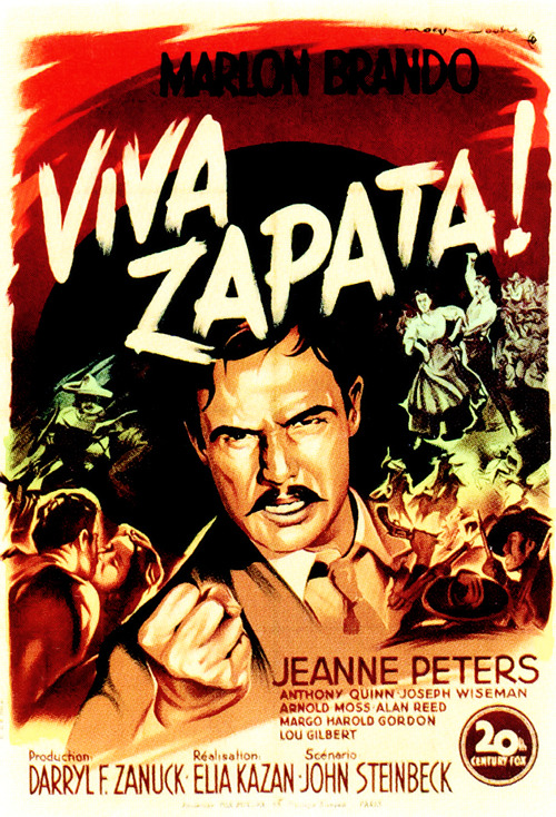 83/2013 Movie List 216. Viva Zapata! (1952) The story of Mexican revolutionary Emiliano Zapata, who led a rebellion against the corrupt, oppressive dictatorship of president Porfirio Diaz in the early 20th century.   Director:  Elia Kazan  Writer:  John Steinbeck  Stars:  Marlon Brando, Jean Peters, Anthony Quinn | See full cast and crew