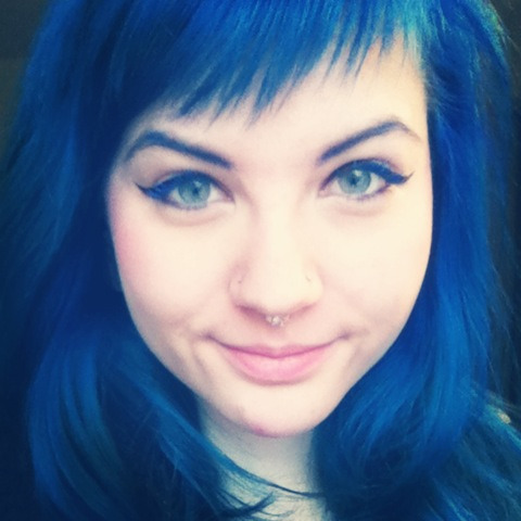 This is Pravana Blue after about probably 20 washes and it's still amazingly vibrant. Best blue I've ever used. Starts out as a very dark royal blue and will eventually fade to an icy blue if hair is pre-lightened enough. (This is my own photo) Submitted by: mikinzi