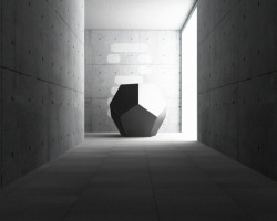 Concrete + Geometric Sculpture = Me, Fall in Love :)