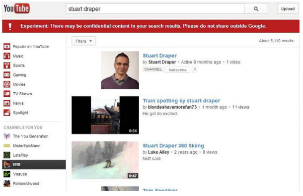 "Have you seen this ""experiment"" banner appear in your YouTube search results recently? Apparently it's just a bug."