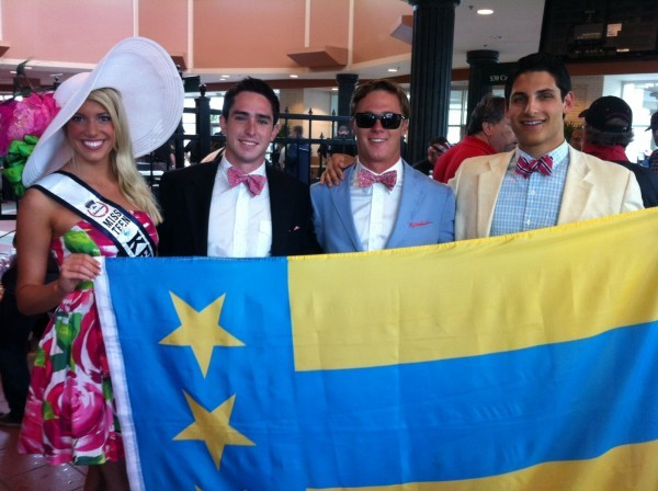 tfm-intern:  Box seats with Miss Teen Kentucky at the Derby. TFM.