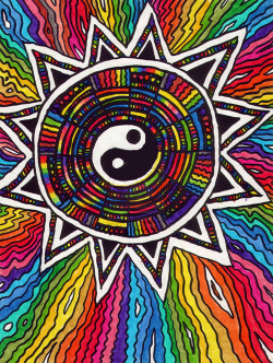 axist:  Colorful yin yang by CReevesABudd