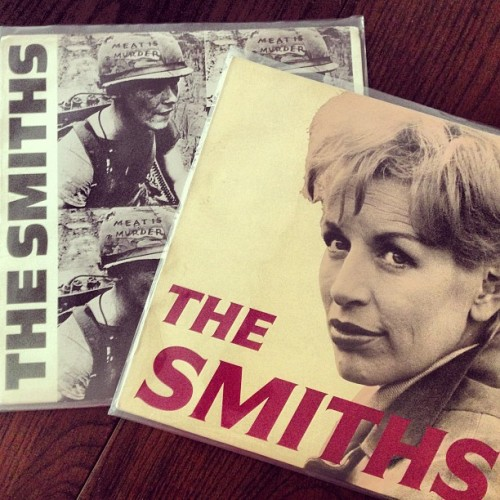 "newest additions #theSmiths #MeatIsMurder & ""Ask"" single! 😽"
