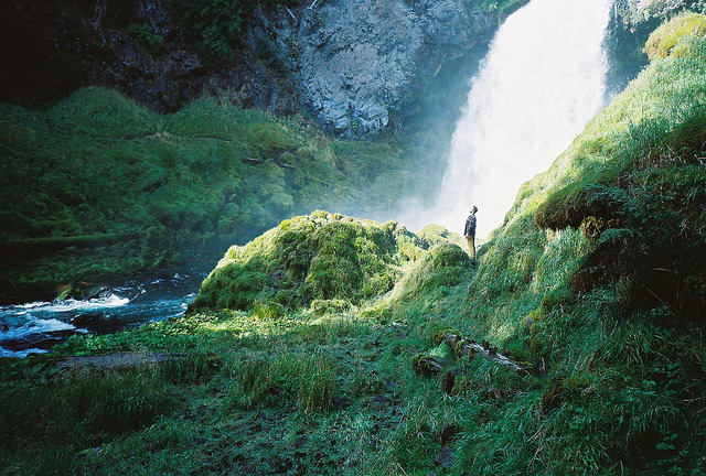 arquerio:  Chris and the waterfall by BriAnne.Wills on Flickr.