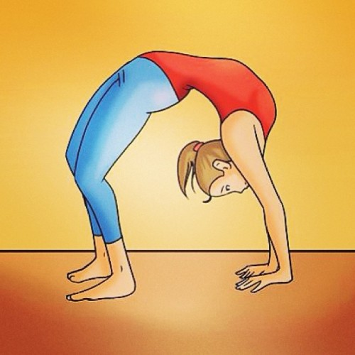 Stretch! wikiHow to do a backbend! http://www.wikihow.com/Do-a-Backbend