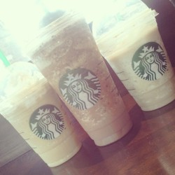 Starbucks was the move today:) with @iimone kyle and kamisha:) <3