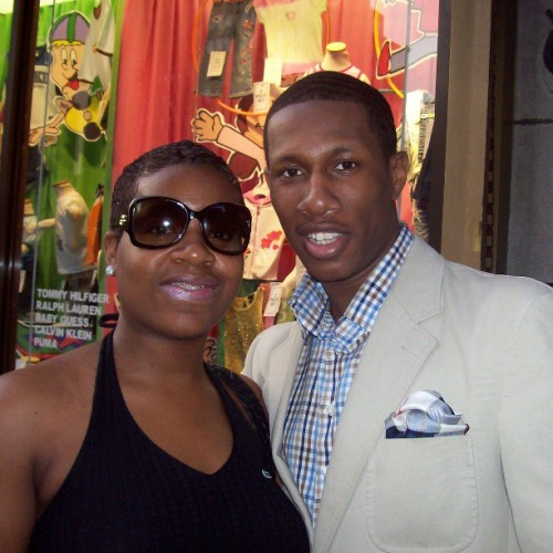 #Fantasia has been doing it up in #NYC this week. Here's my #TBT pic with @tasiasword during her #ColorPurple run on #Broadway