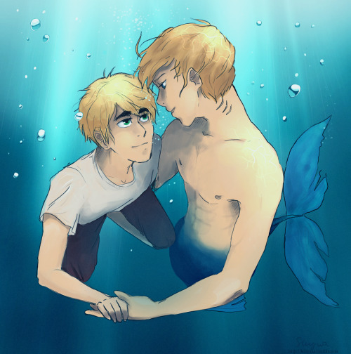 kinyaaa:  underwater  Reblogging this to my fanfic blog. Thank you again for being inspired by my story. <3333