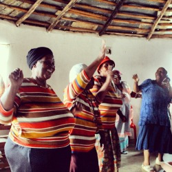 Yebo gogo! These grannies love to sing and dance!