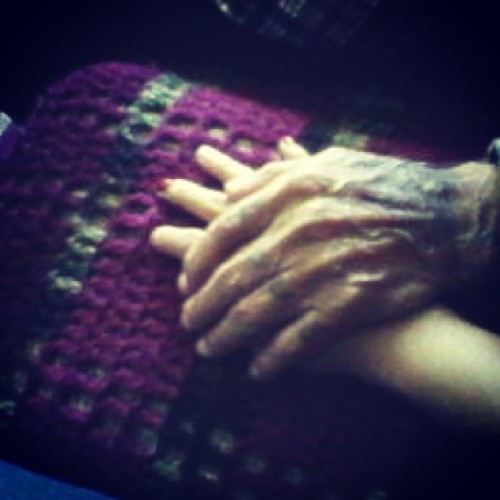 My gramps holding my hand <3