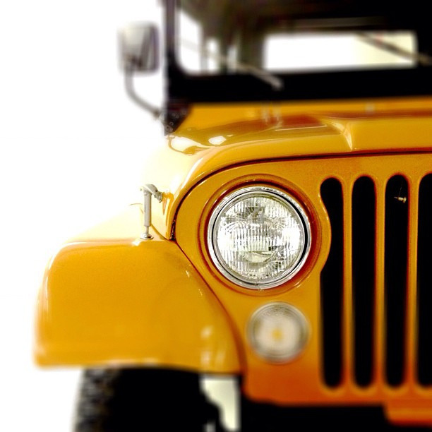 unroad:  1973 Jeep CJ-5 Grille by lee.ekstrom on Flickr.