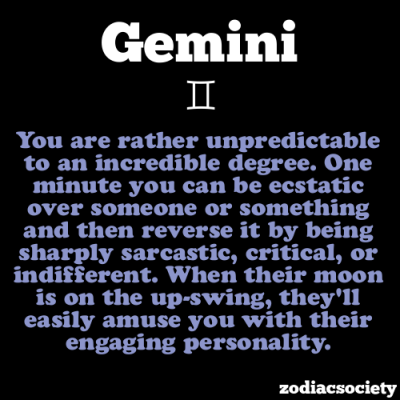 zodiacsociety:  Gemini Facts