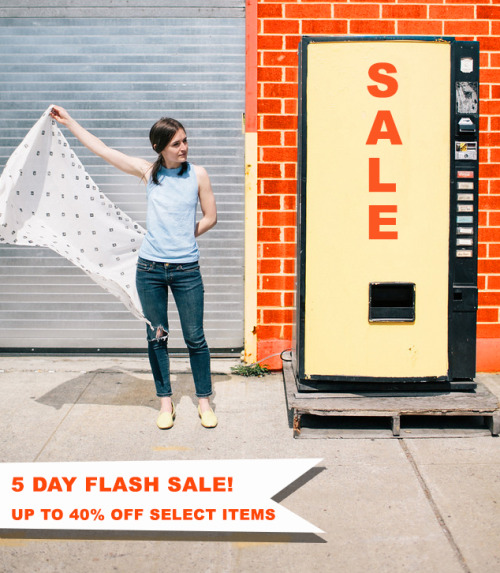 FLASH SALE IN THE SHOP! We're having so much fun this month, we wanted you too as well!   Silk tanks and hand printed scarves are up to 40% off for 5 days only! Sale ends Sunday at midnight.