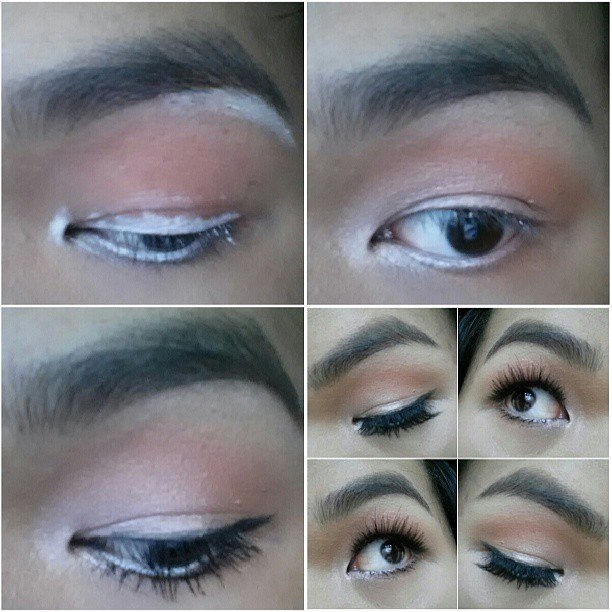 Here's something quick & easy-   1. Take a white eye liner and line the waterline, highlight the inner corner, brow bone, and use it as a base for the lid. After doing so, take your ring finger to blend and smooth out the product. —— 2. Take a shimmery highlight color and apply it everywhere you put the white eyeliner- except for the waterline. Also, take your favorite transitional color & define the crease.  —— 3. Apply mascara and black eye liner for a guideline on where to place the lashes. —— 4. Pop those lashes on and look fabulous!   Hope you enjoy! As always, let me know if you have any questions!  Richard Ray Makeup Artist www.k3richardray.com