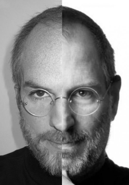 collegehumor:  Ashton Kutcher as Steve Jobs Comparison iCan't believe they're different.  Holy crap!