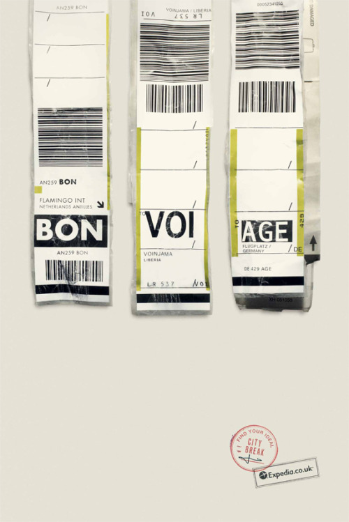 BON VOI AGE Superb set of print ads for Expedia by Ogvily. via