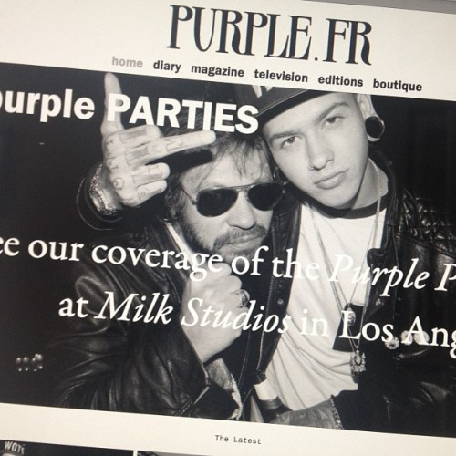 It was my pleasure to introduce @tmills to @ozpurple at @milkstudios this weekend! The world was watching.  Photo by Brad Elterman
