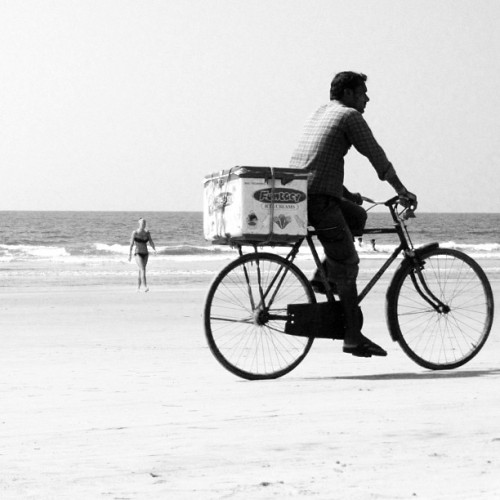 The Ice Cream Man - Arambol Beach - Goa, India (at Arambol Beach)