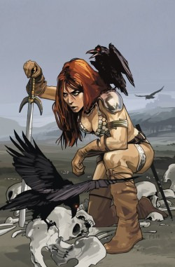 browsethestacks:  Red Sonja #01 (Dynamite) (Fiona Staples Cover)