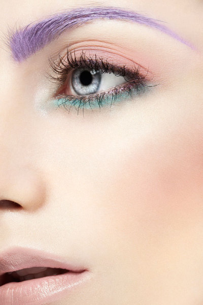 makeupartistsmeet:  Purple brows? Spring into color. What do you think about this image? Makeup: Milsy Parkinson Website: www.milsyparkinsonmakeup.com.au Photographer/Model:  Unknown