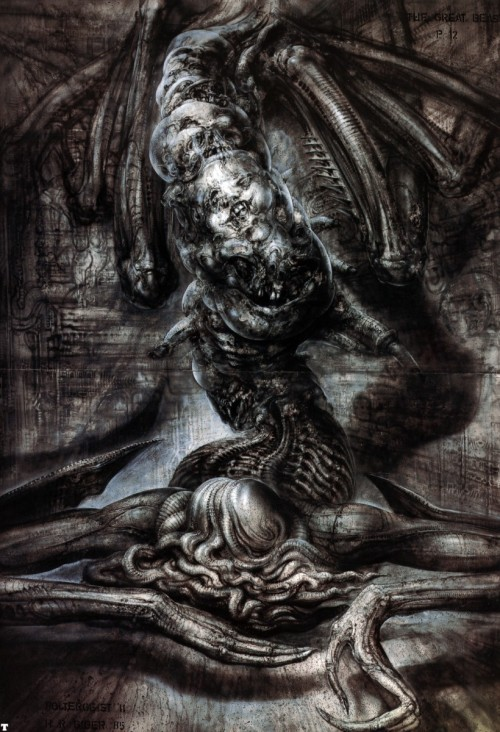 thusreluctant:  The Great Beast by H.R. Giger