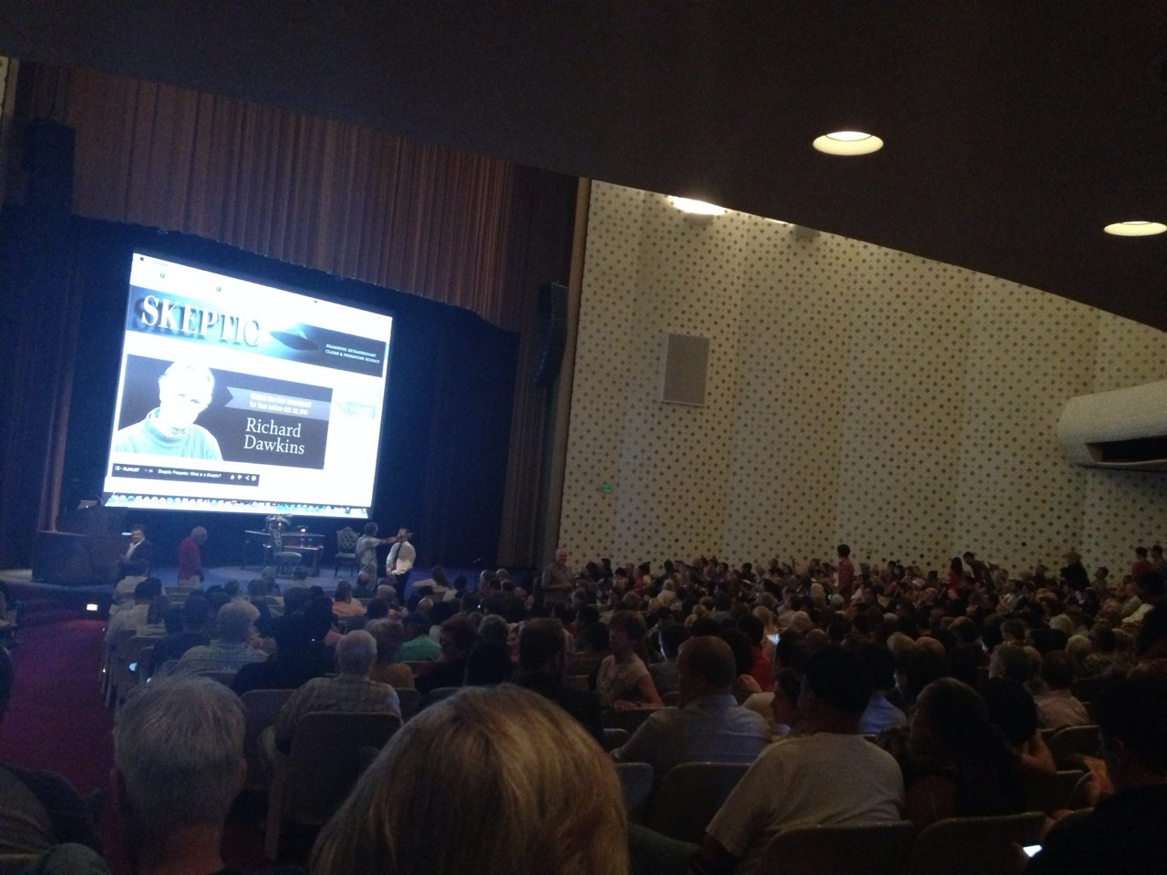 Richard Dawkins at Caltech in Pasadena. Living in California is lovely.