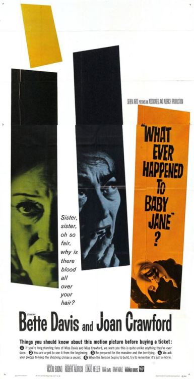 pulpflesh:  Whatever Happened to Baby Jane (1962) via Somnium https://www.facebook.com/media/set/?set=a.328485457266231.77468.284291528352291&type=1  Great Posters