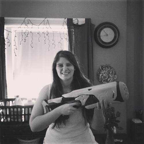 Giant Nerf gun from Jack! Whoooo!