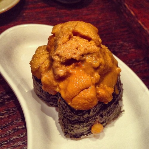 hauteasherro:  We living that good life. #uni #oldtownsushi #sushi