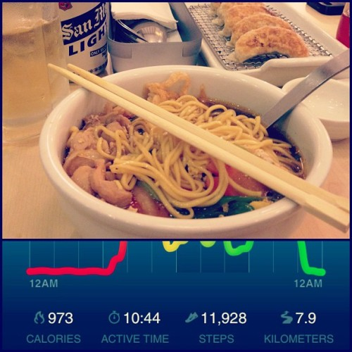 After 11,928 steps… Ramen and alam na. #nikefuel #ramencool