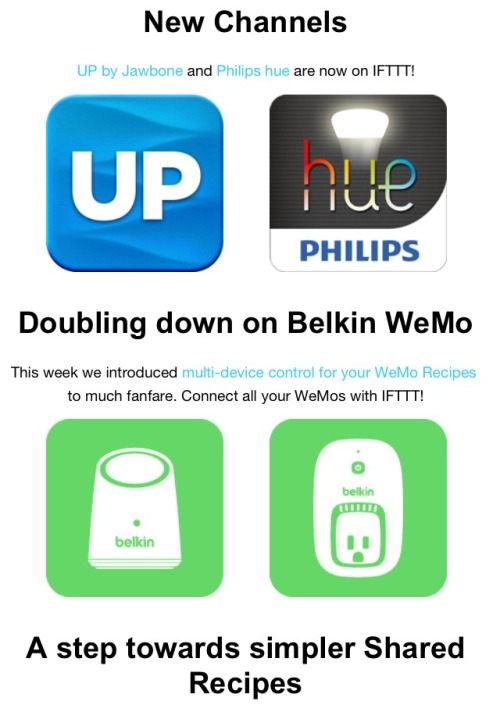 Ifttt.com goes physical with UP & Hue Channels