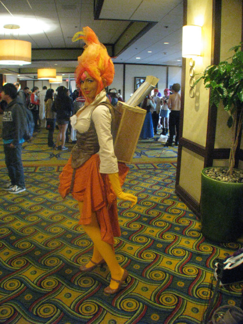 pokemonmasterkimba:  causeallidoisdance:  Awesome Steampunk Flame Princess.  Oh hey it's me.  this made my day!