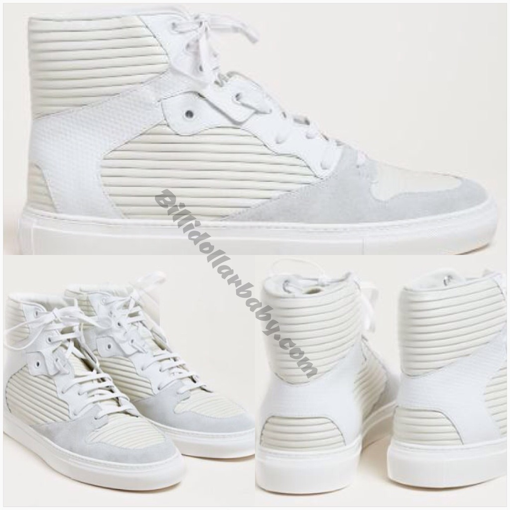 billidollarbaby:  Balenciaga Men's Hi-Top Raised Leather Trainers from SS13 collection in white