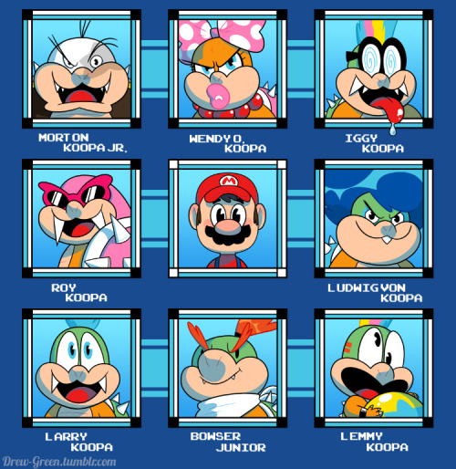 Hey folks! Mario's journey would be so much easier if he had more choices like a certain blue robot we all know and love.  Show everyone how much you like choices with this awesome, retro-love-letter tee!  GO HERE TO PURCHASE THE SHIRT from my redbubble account!  (Shirt colors tend to look muddier on the site than in person, so fear not!) ~Drew