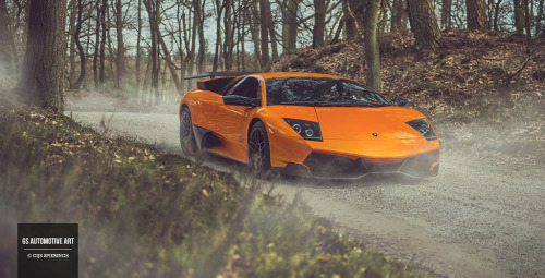 gijsspierings:  Another shot of the Lamborghini Murcielago LP670-4 SuperVeloce. One of my favorites! Rit rond de rivieren 2013 | www.gsautomotiveart.com