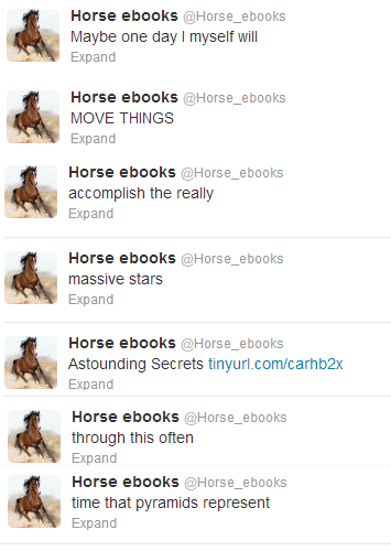 vistakai:  A Poem by horse ebooks