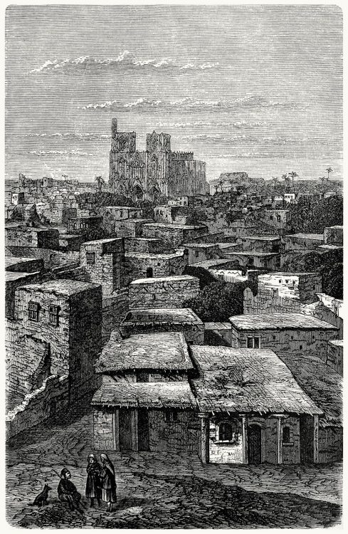oldbookillustrations:  View of Famagusta (Cyprus).  From Savonarola, by Adolf Glaser, Leipzig, 1800 1883.  (Source: archive.org)