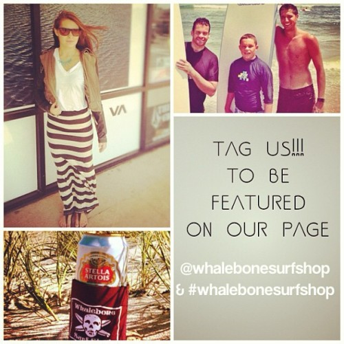 Tag us in photos of you wearing clothes/swimwear from whalebone, doing our surf lessons, surfing on a board you got at whalebone, or using your favorite whalebone huggy! You could be featured on our page. @jerryskaggs @surferbanx @meggygid #whalebonesurfshop