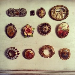Antique and second hand brooches