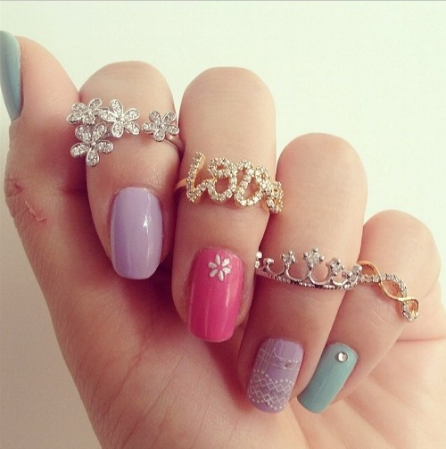 nails colours rings jewelery love crown effects cute inlove
