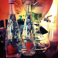 Infused water made with @dvf limited edition @evian! Water #instyle w/ lemons and limes! #infused #h2o #hydrate