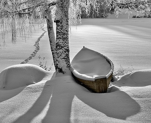 Snow Lake, Stevens Point, Wisconsin photo via dusky