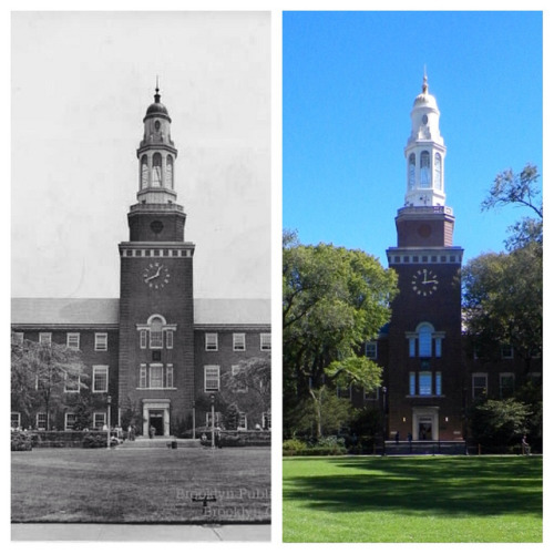 never-been-tam3d:  on Flickr. Brooklyn College Library 1944 and 2013