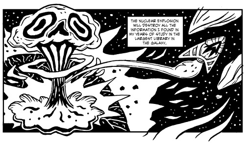 Oh shiitake! Meet the mushroom cloud in the latest earth-shattering panel of The Unfinding of Erasmus Civitatum!