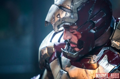 Comic giants Marvel have given us a new image from Iron Man 3that shows Robert Downey Jr.'s Tony Stark looking defeated, with his armour destroyed and blood flowing down his face. The trailers so far have already shown that the third film in the Iron Man franchise will see Stark face his biggest enemy yet in the form of The Mandarin. Do you think he can overcome the head of The Ten Rings on his own, or is he going to need some backup?