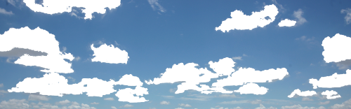 reblog and make the clouds the color of your tumblr background!  transparent