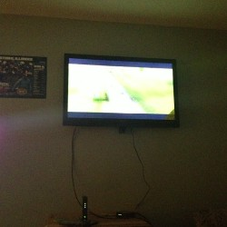 Just got a new 50 TV on the crib